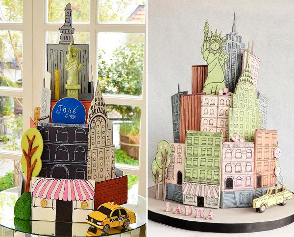 Bolos NY, Nova York, Festa de 15 anos tema Nova York, Inspiraç