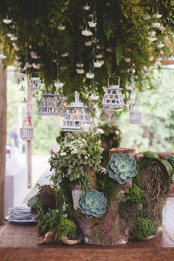 Inspirações de decoração com suculentas, Festa de 15 anos, D